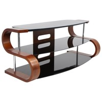 Metro 120 TV Stand Birch And Black