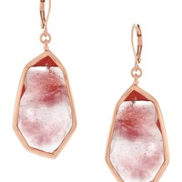 Vince Camuto Crackled Glass Drop Earrings | Dillards