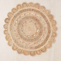 Lakho Woven Jute Round Rug   Urban Outfitters
