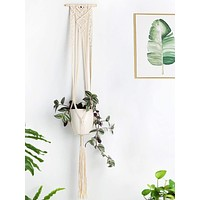 Macrame Plant Hanger Indoor Wall Hanging Planter Basket - 46 Inch