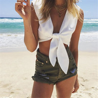 Bow Sexy Crop Top