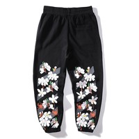 OFF-WHITE Popular Women Men Casual Print Pants Trousers Sweatpants