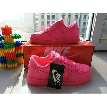 """Nike Air Force 1"" Women Sport Casual Candy Colors Low Help Shoes Sneakers Plate Shoes"