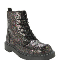 Anarchic By T.U.K. Multicolored Glitter Combat Boots
