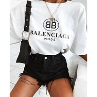 Balenciaga Women Hot Tunic T-shirt Top