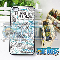 Fault in Our Stars - iPhone 4/4s/5/5S/5C Case - Samsung Galaxy S3 i9300 S4 i9500 Case - iPod 4 iPod 5 Black or White