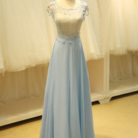 Modest Daisy Floral Lace Formal Evening Prom Dress