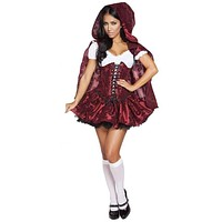 Roma Costume 4616 4Pc Lusty Lil' Red