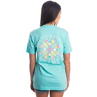 Melting For You Pocket Tee in Ocean Palm by Lauren James