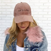 Bad Hair Day Pink Suede Hat