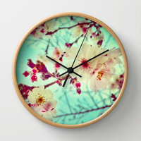 Early Blooms Wall Clock by DuckyB (Brandi)