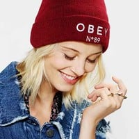OBEY X UO Pearse Beanie- Red One