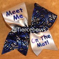 Meet Me On The MAt Cheer Bow