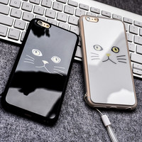 On Sale Stylish Iphone 6/6s Cute Hot Deal Couple Apple Silicone Acrylic Mirror Phone Case [8383660871]
