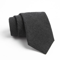 St. Marks Tie in Black with Subtle Squares