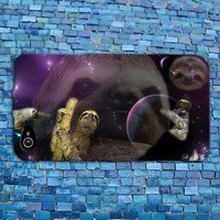 Cute Sloth Outer Space Galaxy Funny Animal Case Cover iPhone Phone Cool Fun Girl