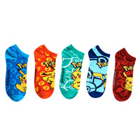 Pokemon Pikachu No-Show Socks 5 Pair