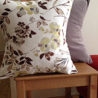 2 Velvet Pillow Cases, Decorative Throw Pillows, Cushion Cover, Gray and White with flowers, Bed Throw Pillow, Sofa Pillow