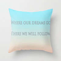 Beautiful Pillow Cover - home decor throw cover beautiful inspiration quotes typography dreams song lyrics 16x16 inches