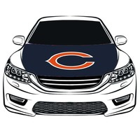 Chicago Bears    Car Hood Cover flag, 100% spandex,Four side projectile fabric,Car Bonnet Banner free shipping  ,Engine Flag,