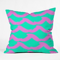 Rebecca Allen Wayfarer Cotton Candy Throw Pillow