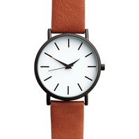 Watch with a leather strap - Tawny brown - Men | H&M US