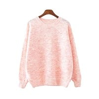Preppy Pullover  Mix Color Knitted Sweater