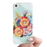 MagicPieces Blue Flowers Pattern Phone Case For iPhone 4/4S DP 0520