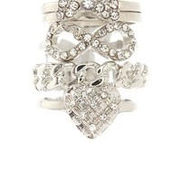 FLIRTY MIX STACKABLE RING SET