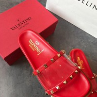 Valentino See-Through Slide Slipper