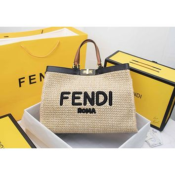 Fendi Women Leather Shoulder Bags Satchel Tote Bag Handbag Shopping Leather Tote Crossbody Satchel Shouder Bag