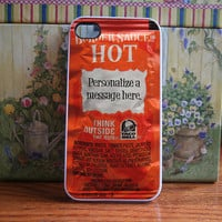 Taco bell packet HOT personalized - iPhone 4S and iPhone 4 case INSERT