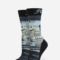 Stance X Rihanna Most Wanted Womens Crew Socks Blue One Size For Women 27035320001