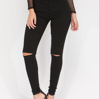 Stylish Simplicity Slit Jeggings GoJane.com