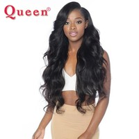 Queen Hair Products Peruvian Body Wave Hair Extensions 1 PC 100% Remy Human Hair Weave Bundles 3 or 4 Bundles For Full Head
