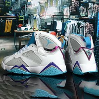 Nike Air Jordan-Jordan 7 Series AJ7 Easter Egg Men's and Women's High Top Casual Sports Shoes Basketball Shoes