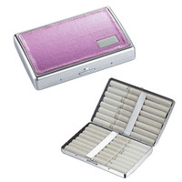 Visol Bella Pink Leatherette Double Sided Cigarette Case