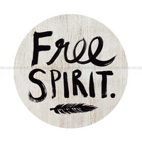 Free Spirit  - Boho style 8x10 inch on A4 type poster Print in Natural Brown, White and Black
