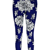 Olly Skinny Two Pocket Floral Trousers