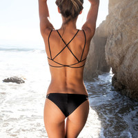 Frankies Bikinis Kaia top in black