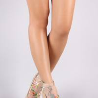 Eve Floral Mesh Bootie