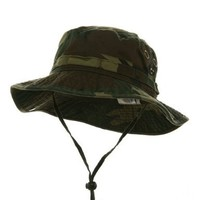 MG Men's Washed Cotton Twill Chin Cord Outdoor Hunting Hat (Camo Green, Large)