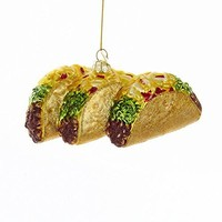 Kurt Adler Taco Glass Blown Holiday Ornament