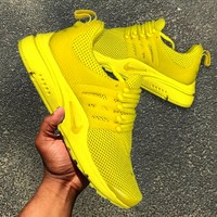 NIKE Air Presto Trending Casual Running Sport Casual Shoes Sneakers Yellow Soles