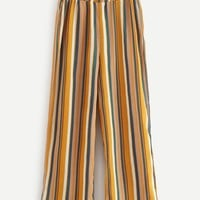 Elastic Waist Striped Pants