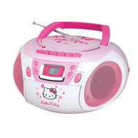 Hello Kitty KT2028A Stereo CD Boombox with Cassette Player-Recorder and AM-FM Radio