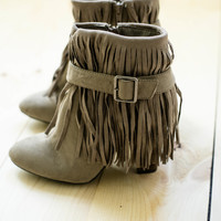 No Hassle Tassel Ankle Boots