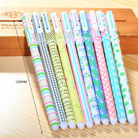 New Arrival! Cute stationery set of 10 color Floral Print pattern Assorted colorful Gel Markers Pens for DIY scrapbook, drawing, writing