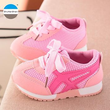 2018 1 to 5 years old baby boy and girl casual shoes sports shoes high quality non-slip kids sneakers breathable walking shoes