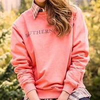 SEAWASH™ Sweatshirt in Coral by Southern Marsh